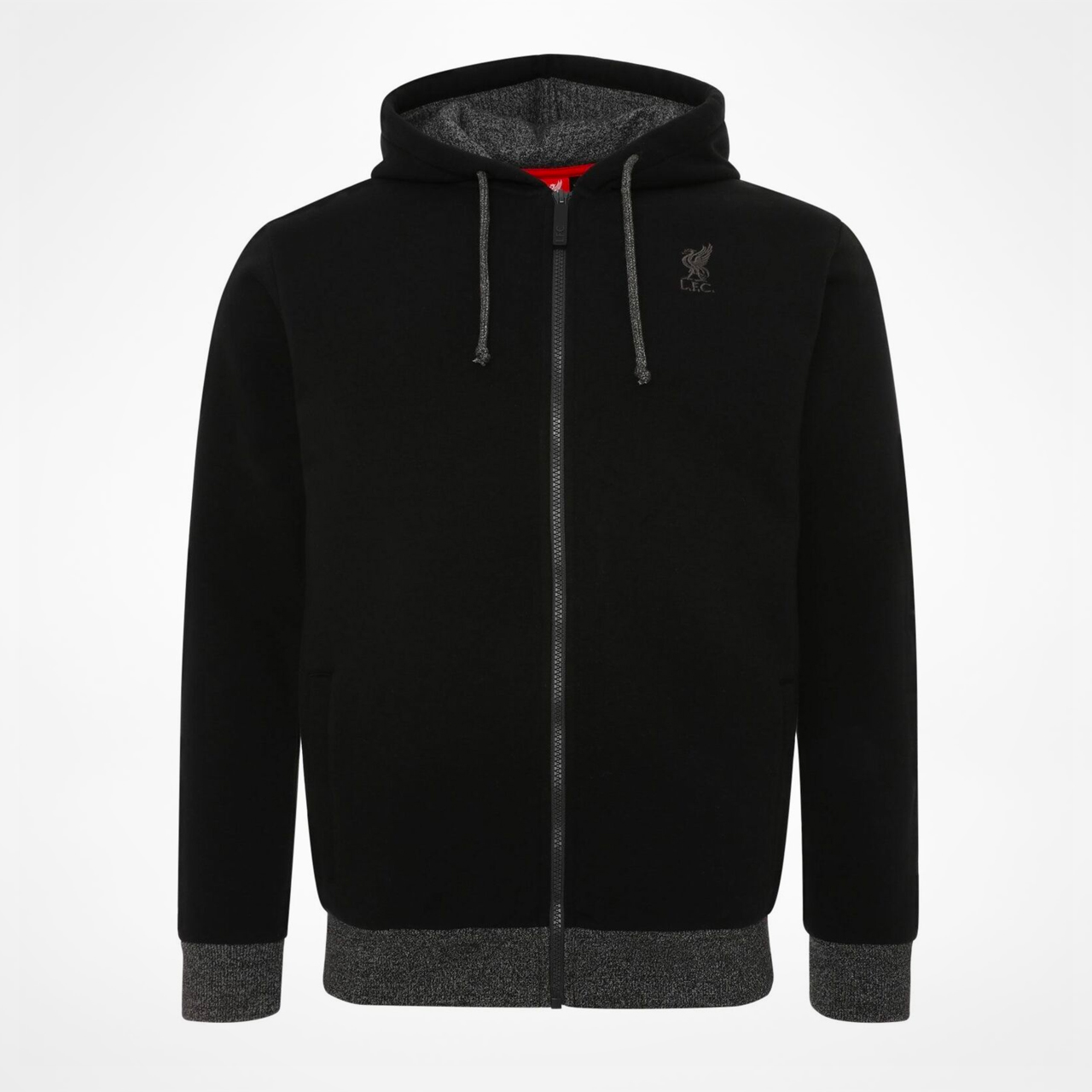 Liverpool FC Mens Grey Marl Zip Thru